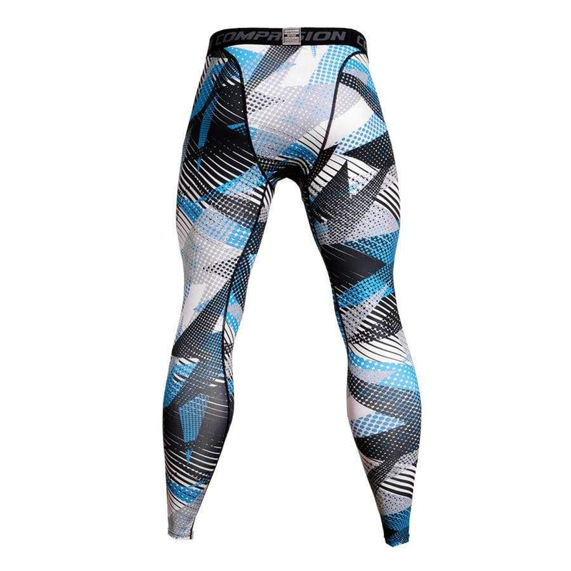 Men's Sports Fitness Geometric Printed Tight Pants