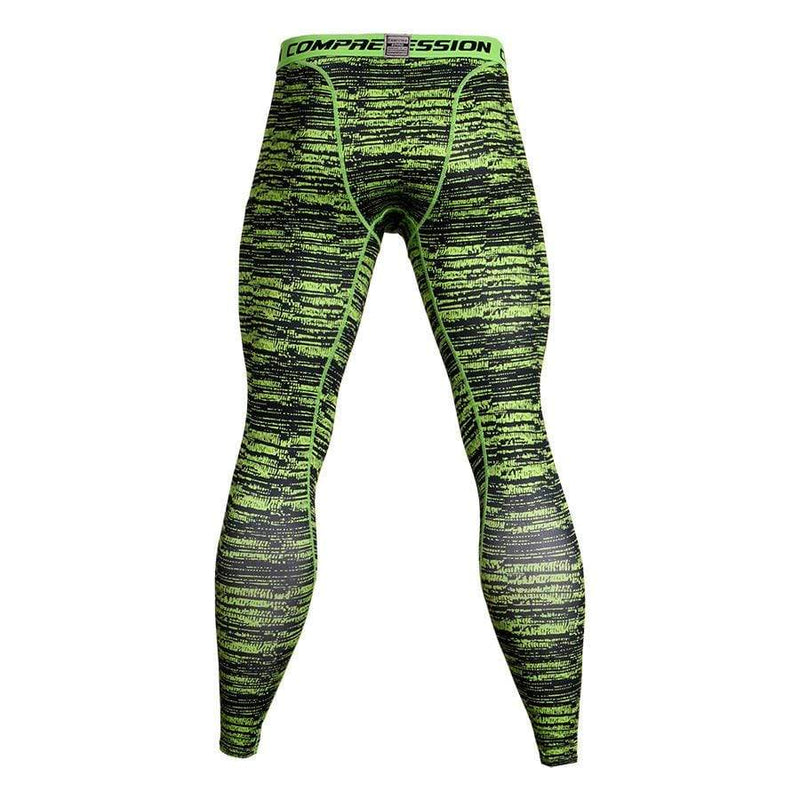 Men's Sports Fitness Stripe Printed Tight Pants