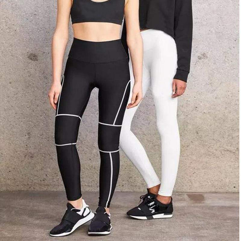 New Contrast Color Mesh Stitching Yoga Pants