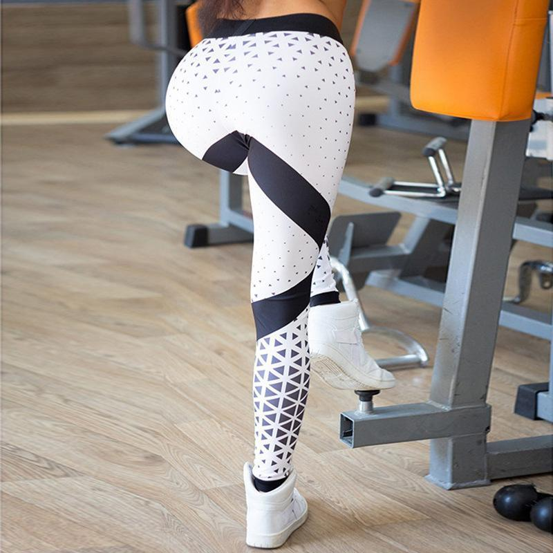 Geometric printed Fitness Yoga Leggings