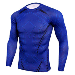 Silk Long Sleeved Fitness Men's T-shirt