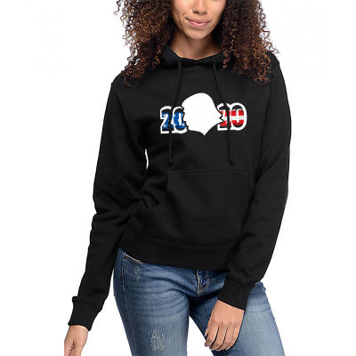 """Trump 2020"" Black Hooded 3D Printed Pocket Hoodie"