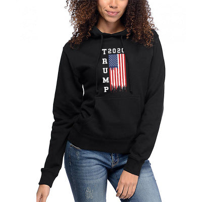 """Trump 2020"" America Flag 3D Printed Pocket Hoodie"