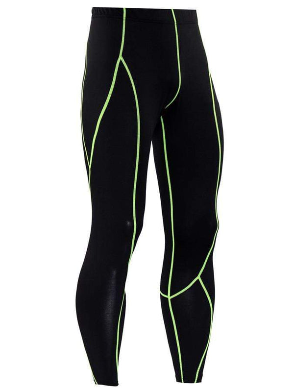 Men's Sports Fitness Stitching Tight Pants