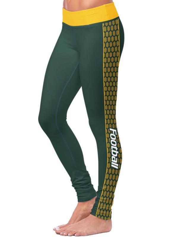 Green Bay Packers Football Fitness Sports Printed Yoga Pants