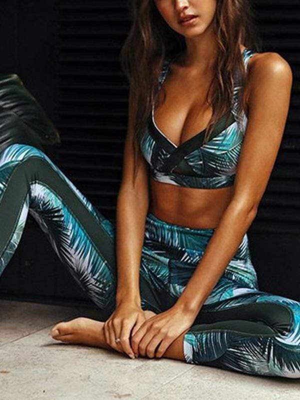 Hip-pitch trousers fitness yoga set