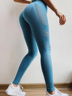 High Waist Hollow Fitness Stretch Yoga Pants