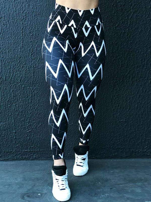 Geometric Line Print Sexy Leggings