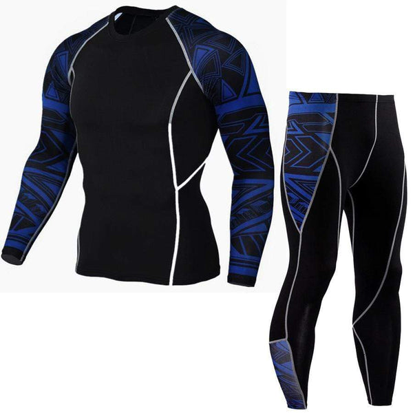 Workouts Fitness Basketball Elastic Tight Two-piece