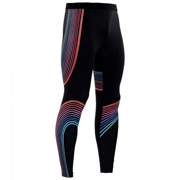 Streamer Printed Color Matching Yoga Pants