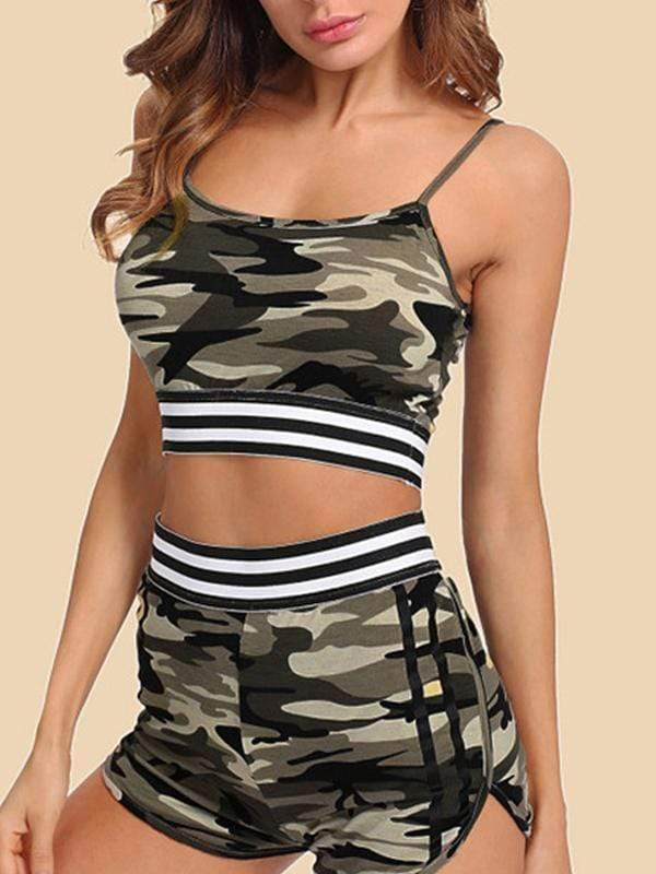 Camouflage sports active sets