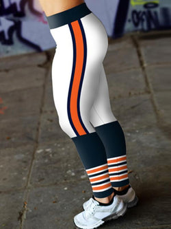 Chicago Bears Football Fitness Sports Printed Stitching Yoga Pants