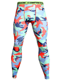 Men's Sports Fitness Camouflage Printed Tight Pants