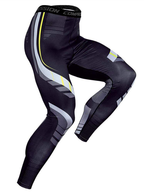 Men's Sports Basketball Fitness Printed Tight Pants