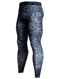 Men's Sports Fitness Printed Tight Pants