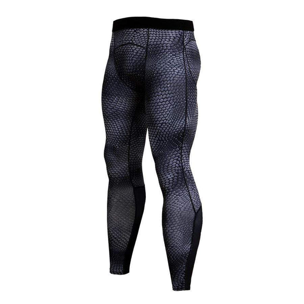Men's Sports Fitness Snake Grain Printed tight Pants