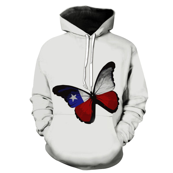 """The Butterfly of US"" 3D Printed Hooded Pocket Hooded Sweater"