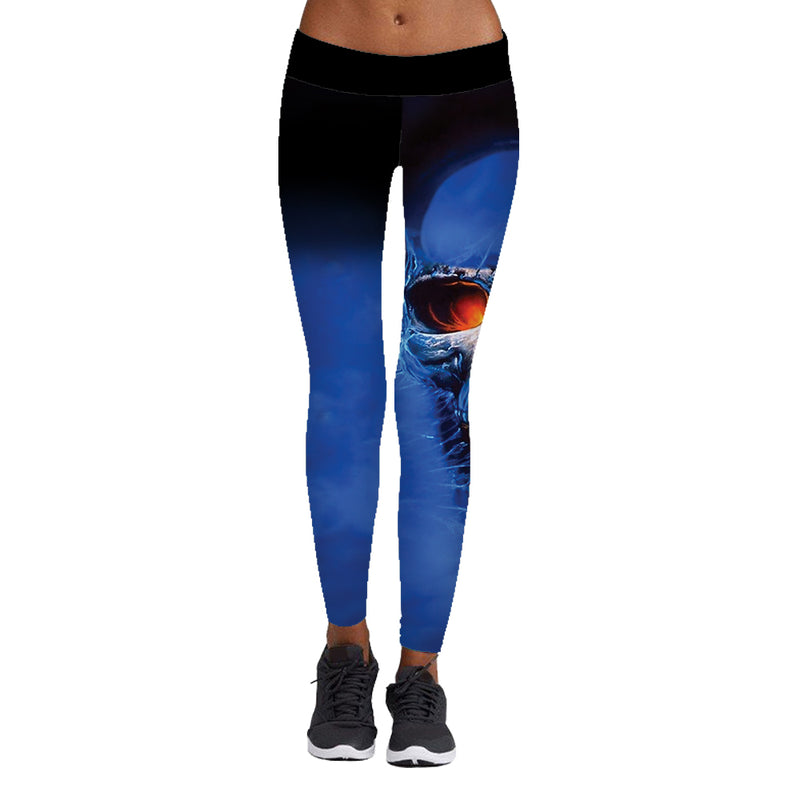 Football Fitness Sports Printed Stitching Yoga Pants A1026