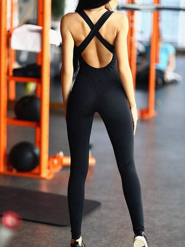 Solid Color Sports Jumpsuits