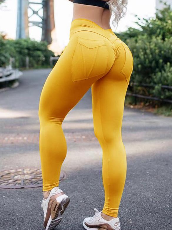 High Waist Push Up Sexy Tight Pocket Stretch Yoga Pants