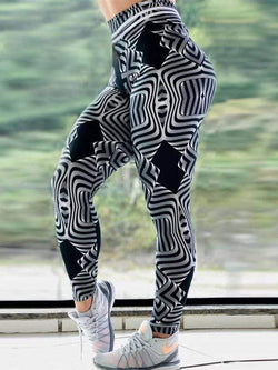 High Waist Push Up Printed Leggings