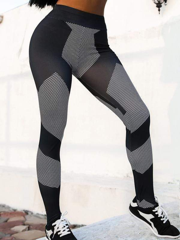 Printed Stitching Yoga Leggings