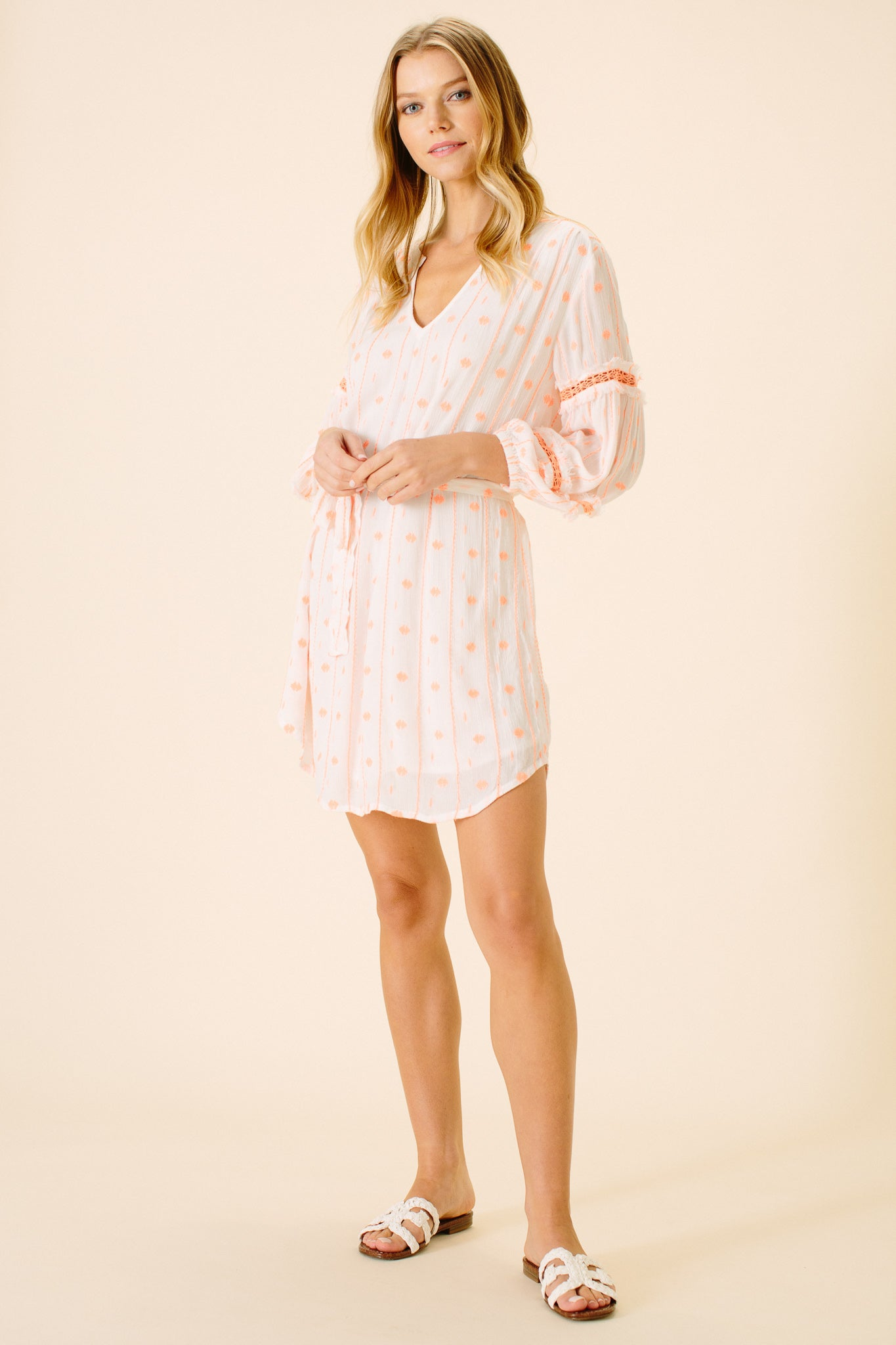 Carly Long Sleeve Dress | Neon Crinkle