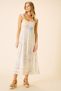 Brooklyn Ruffle Sleeve Dress | Tie Dye