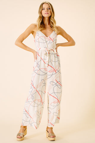 Gianna Jumpsuit | Rope Print