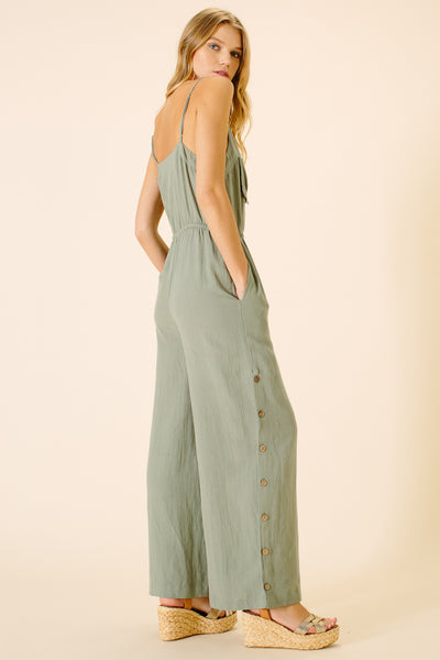 Catalina Pocket Jumpsuit | Sea Spray