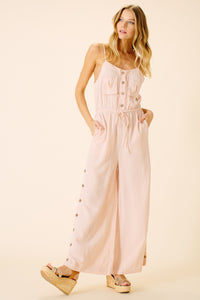Catalina Pocket Jumpsuit | Blush