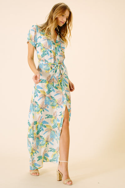 Tulum Shirt Maxi Dress | Panama Print