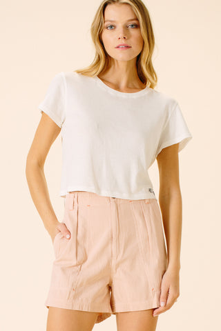 Kayliee Cargo Shorts | Blush