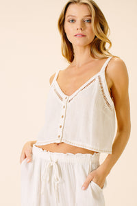 Emi Cami Top | White