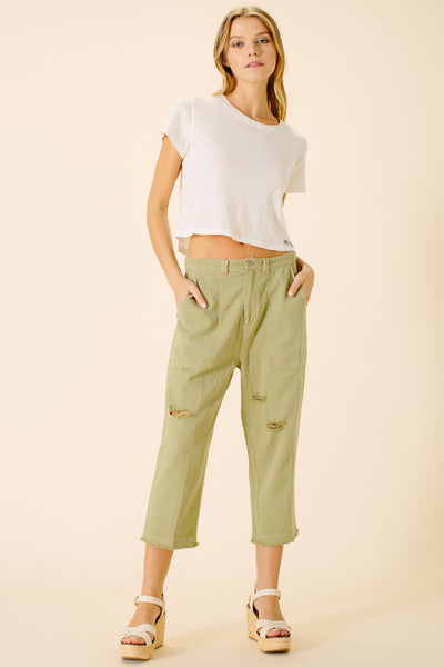 Piper Tapered Cropped Pant | Fern