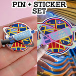 1x Pin+Sticker set. THANKS, SCIENCE. (pre-order)