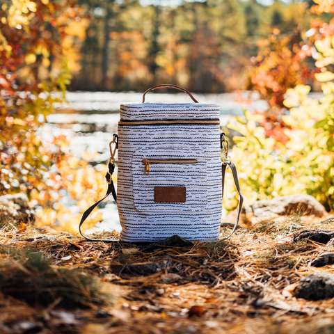 CleverMade Sonoma Wine Cooler LUXE in fall leaves
