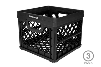 25 Liter Collapsible Milk Crates - 3 Pack