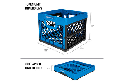 MilkCrates 3 Pack – Collapsible 25 Liter Utility Crate