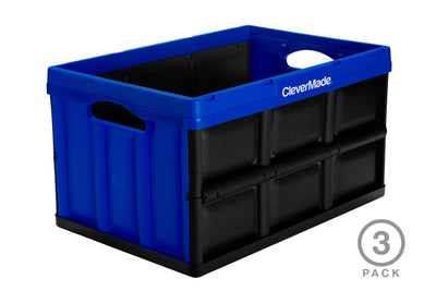 46 Liter CleverCrates 3 Pack – Collapsible Utility Crate