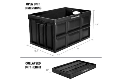 CleverCrates 3 Pack – Collapsible 62 Liter Utility Crate