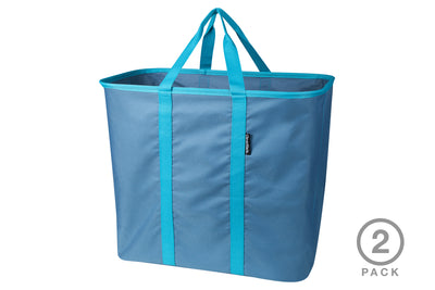 Laundry Caddy 2 Pack - Collapsible Laundry Basket & Hamper, Holds 2 Loads
