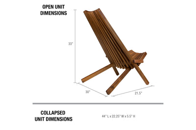 Tamarack Chair - Chic, Foldable Chair