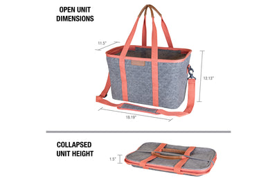 SnapBasket Thermo LUXE Tote - Collapsible Insulated 30 Liter Tote