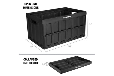62 Liter Collapsible Storage Bin with Lid - 3 Pack