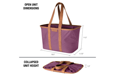 SnapBasket LUXE Tote - Collapsible 30L Canvas Tote