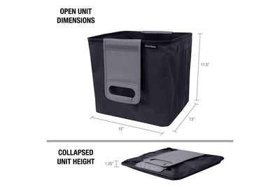 Trunk Caddy - Collapsible Modular Organizer & Tote, 45 Liter