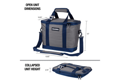 Tahoe Cooler - Sturdy & Collapsible, Holds 30 Cans + Ice