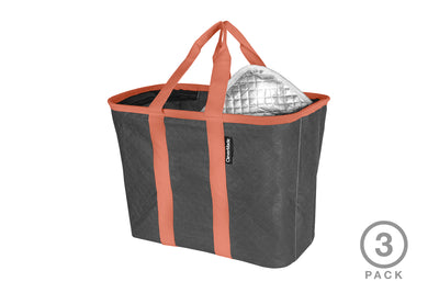 SnapBasket Thermo Tote 3 Pack - Collapsible Insulated 20 Liter Tote