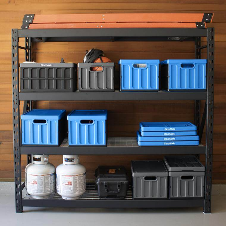 Stack of CleverCrate® Storage Bins with Lids